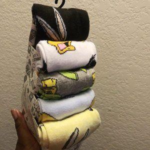 Looney Tunes | 5 Pair Casual Crew Socks